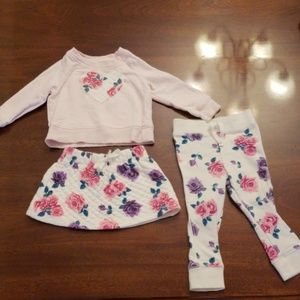 Floral Sweatsuit with skirt